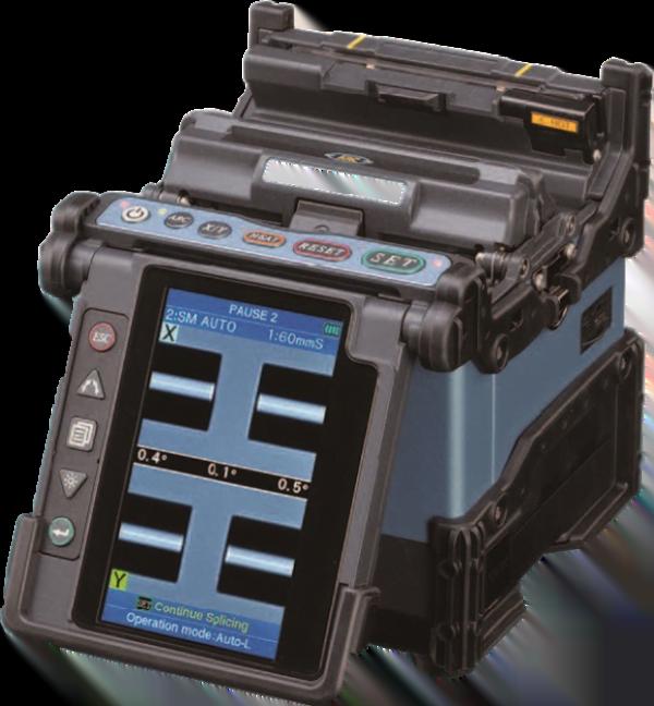 The Fujikura FSM70s, a core align,ment splicer used for telecom installations