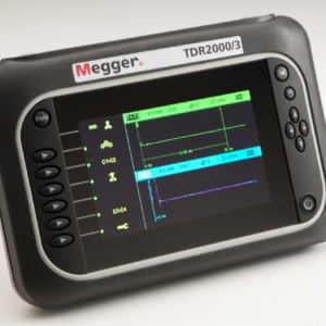 Front view of a Megger TDR2000/3 metallic cable tester